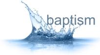 baptism water