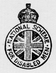 National Scheme for Disabled Men crest